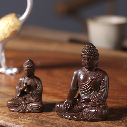Buddha Shakyamuni Copper Tea Pet Table Decoration Ornament