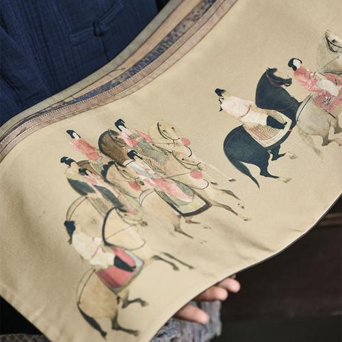 Retro Cotton Linen Placemat for Gongfu Tea Ceremony