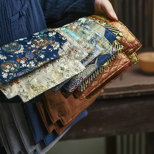 Double-sided Weave Brocade Placemat for Gongfu Tea Ceremony