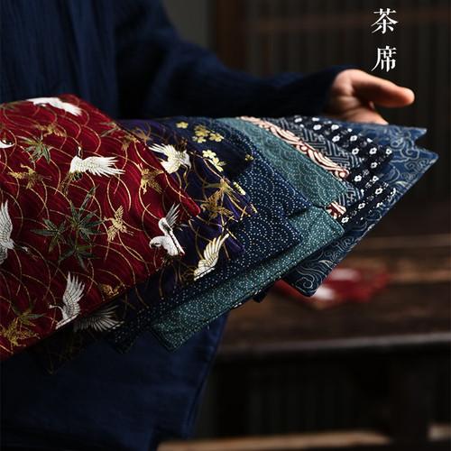 Yin Hua Cotton Linen Placemat for Gongfu Tea Ceremony