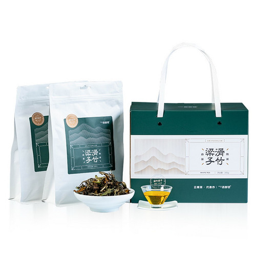 ORIPUER LAB Brand Hua Zhu Liang Zi Ancient Tree Yunnan Broad Leaf White Tea 50g*4