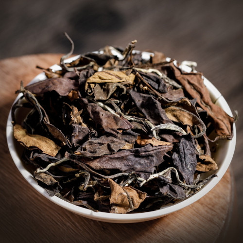 Mango Scented Organic Aged Shou Mei Lao Bai Cha China White Tea 500g