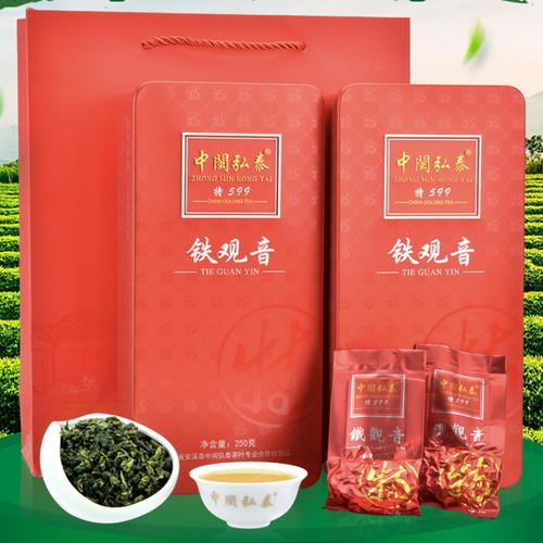 ZHONG MIN HONG TAI Brand Nongxiang Anxi Tie Guan Yin Chinese Oolong Tea 250g*2