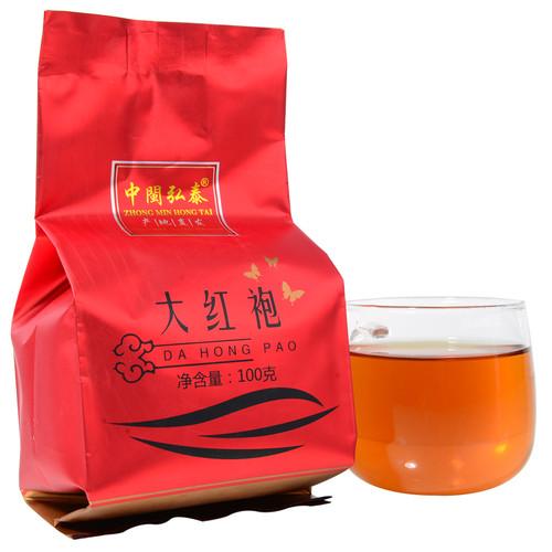 ZHONG MIN HONG TAI Brand Tan Bei Da Hong Pao Fujian Wuyi Big Red Robe Oolong Tea 100g
