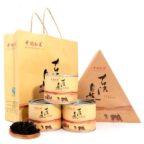 ZHONG MIN HONG TAI Brand Gu Fa Nature Da Hong Pao Fujian Wuyi Big Red Robe Oolong Tea 70g*3