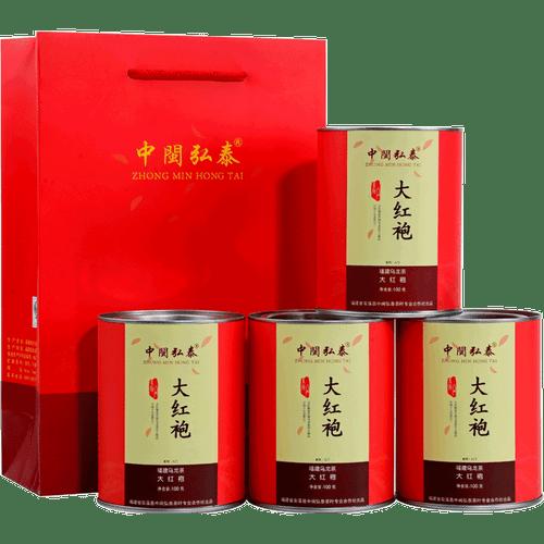 ZHONG MIN HONG TAI Brand Tan Bei Da Hong Pao Fujian Wuyi Big Red Robe Oolong Tea 100g*4