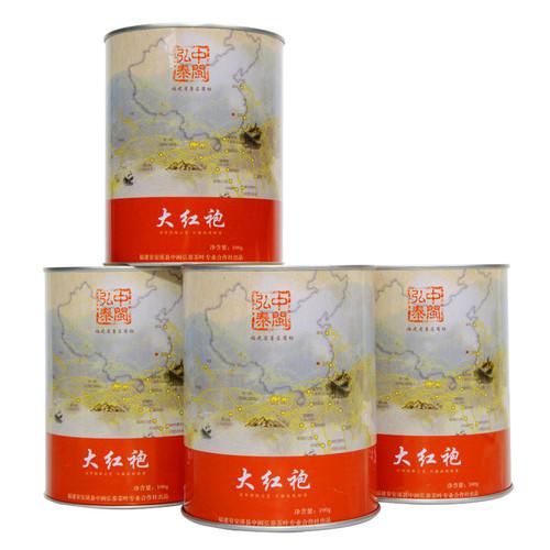 ZHONG MIN HONG TAI Brand Yan Chuang World Tan Bei Nongxiang Da Hong Pao Fujian Wuyi Big Red Robe Oolong Tea 100g*4