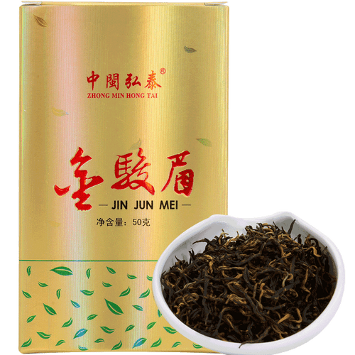 ZHONG MIN HONG TAI Brand Whole Bud High Fragrance Jin Jun Mei Golden Eyebrow Wuyi Black Tea 50g