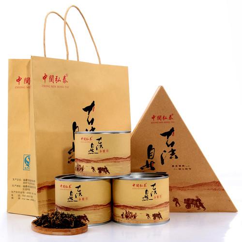 ZHONG MIN HONG TAI Brand Gu Fa Nature Jin Jun Mei Golden Eyebrow Wuyi Black Tea 255g