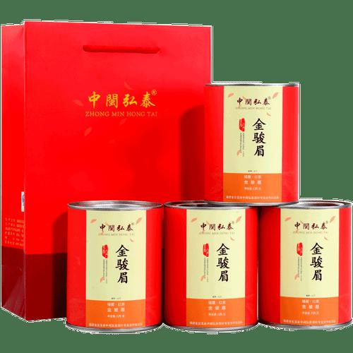 ZHONG MIN HONG TAI Brand Jin Jun Mei Golden Eyebrow Wuyi Black Tea 125g*4