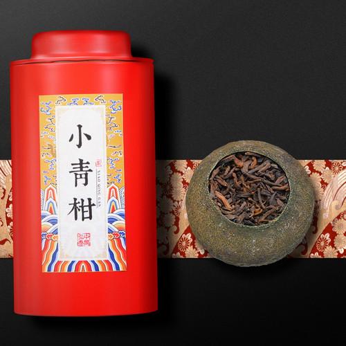 ZHONG MIN HONG TAI Brand Xinhui Chenpi Orange Pu'er Yunnan Pu-erh Tea Stuffed Tangerine Ripe 2020 100g