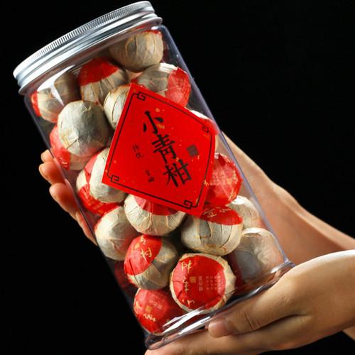 ZHONG MIN HONG TAI Brand Chennian Gongting Xinhui Chenpi Orange Pu'er Yunnan Pu-erh Tea Stuffed Tangerine Ripe 2020 250g