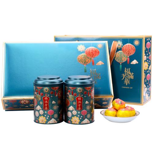 ZHONG MIN HONG TAI Brand Fuman Fanghua Xinhui Chenpi Orange Pu'er Yunnan Pu-erh Tea Stuffed Tangerine Ripe 2019 300g