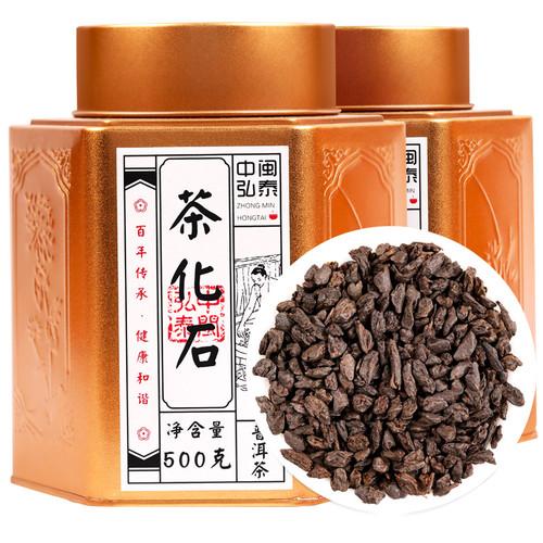 ZHONG MIN HONG TAI Brand Tea Fossil Pu-erh Tea Tuo 2020 500g Ripe