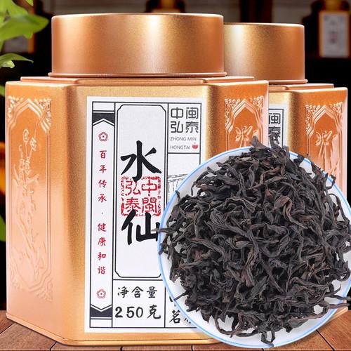 ZHONG MIN HONG TAI Brand Hexagonal Tank Shui Xian Rock Yan Cha China Fujian Oolong Tea 180g*2