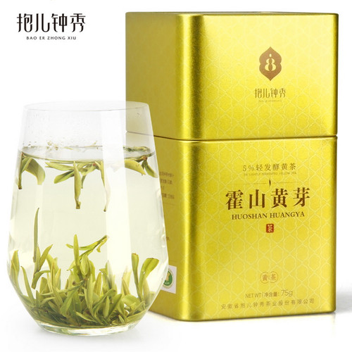 BAO ER ZHONG XIU Brand Premium Grade Huo Shan Huang Ya Yellow Buds 75g