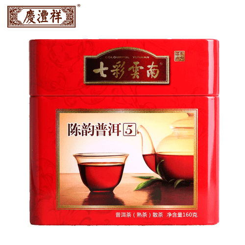 COLOURFUL YUNNAN Brand Qing Feng Xiang Chen Yun 5 Years Pu-erh Tea Loose 2018 160g Ripe