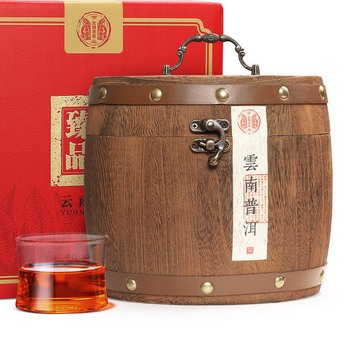 GUU MINN Brand Yiwu Ancient Tree Old Tea Head Pu-erh Tea Tuo 2003 500g Ripe