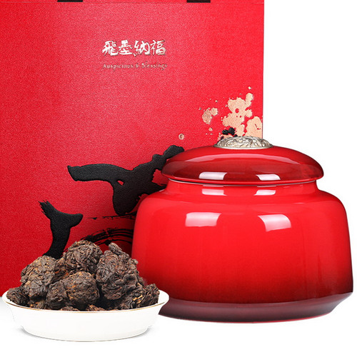 GUU MINN Brand Classic Handed Down Tea Head Pu-erh Tea Tuo 1980 450g Ripe