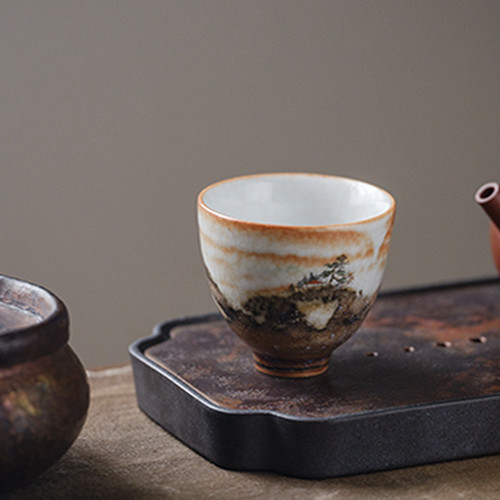 Huo Shao Yun Chinese Ceramic Gongfu Tea Tasting Teacup 80ml