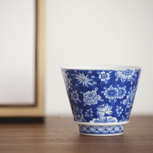 Qinghua Baihua Chinese Ceramic Gongfu Tea Tasting Teacup 100ml