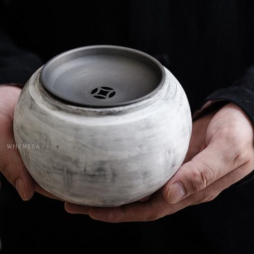 Xuerong Fenyin Tin Cover Jianshui Ceramic Tea Waste Bowl 700ml