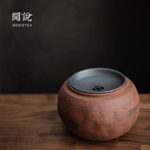 Shen Shan Tin Cover Jianshui Ceramic Tea Waste Bowl 700ml