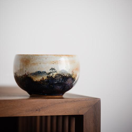 Huo Shao Yun Jianshui Ceramic Cha Xi Gongfu Tea Ceremony Water Bowl for Teacups 280ml