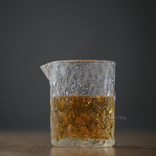 Qi Pao Chui Wen Glass Fair Cup Of Tea Serving Pitcher Creamer 300ml