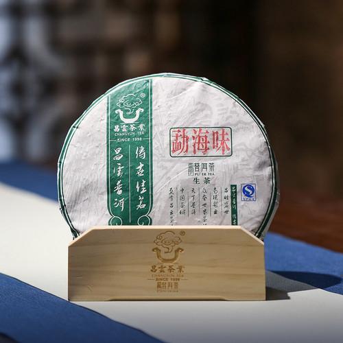 CHANGYUN Brand Meng Hai Wei Pu-erh Tea Cake 2015 357g Raw