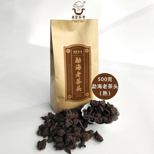 CHANGYUN Brand Menghai Old Tea Head Pu-erh Tea Tuo 2019 500g Ripe