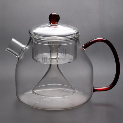 810 Heat Resistant Glass Steamed Teapot 850ml 1350ml