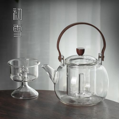 7028 Dasheng Heat Resistant Glass Steamed Cooking Teapot 850ml