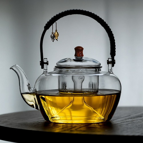 8858 Shuang Yu Heat Resistant Glass Steamed Cooking Teapot 1100ml