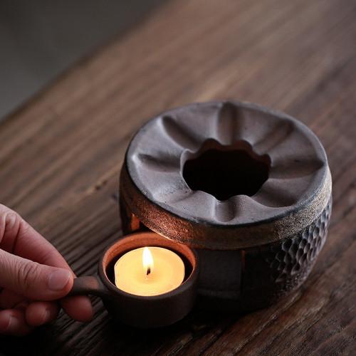 Ceramic Tea Light Burner Stove For Kungfu Tea Teapot Heating Base