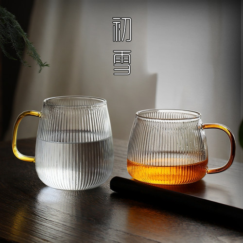Japanese-style Tiao Wen Glass Tea Mug