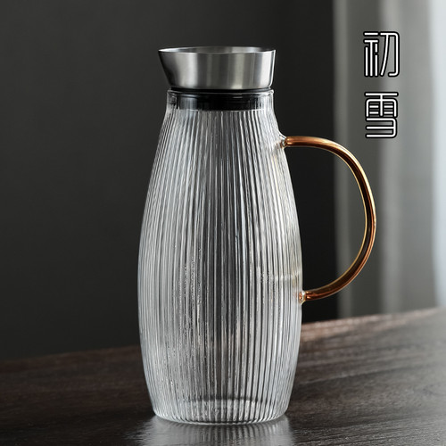 8881 Shu Wen Water Carafe Heat Resistant Glass Pitcher For Homemade Beverage 1700ml