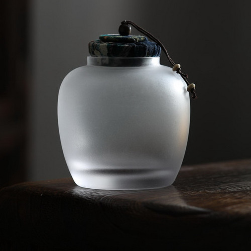 1302 Long Yue Glass Food Container Tea Caddy