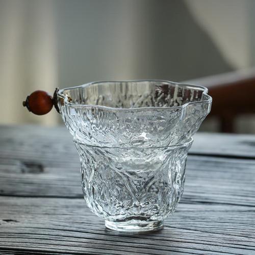 1260 Mu Bai He Tao Wen Transparent Glass Gongfu Tea Strainer