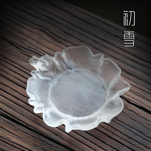 He Ye Liu Li Glass Cup Coaster For Gongfu Tea Ceremony