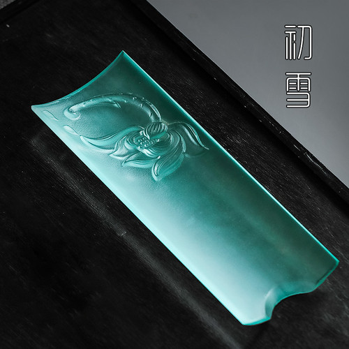 Tian Qing Liu Li Glass Cha He Loose Tea Presentation Vessel