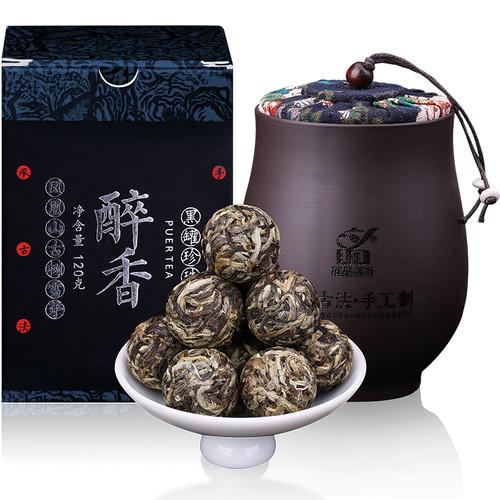 YUNPIN Brand Black Can Pearl Pu-erh Tea Tuo 2014 120g Raw