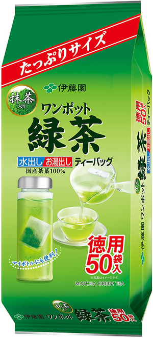 Ito En Itoen One Pot Green Tea with Matcha 50 Tea Bags