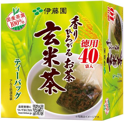 Ito En Itoen Aroma-spreading Green Tea with Brown Rice Genmaicha 40 Tea Bags