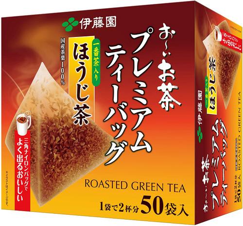Ito En Itoen Premium Hojicha with Ichibancha Roasted Green Tea 50 Tea Bags