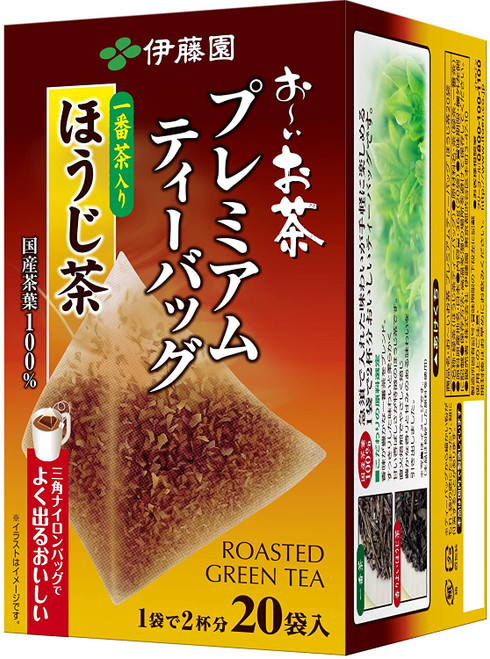 Ito En Itoen Premium Hojicha with Ichibancha Roasted Green Tea 20 Tea Bags