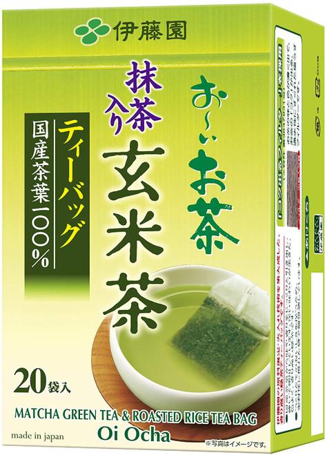 Ito En Itoen Ooi Cha Matcha Green Tea & Roasted Rice Tea 20 Tea Bags