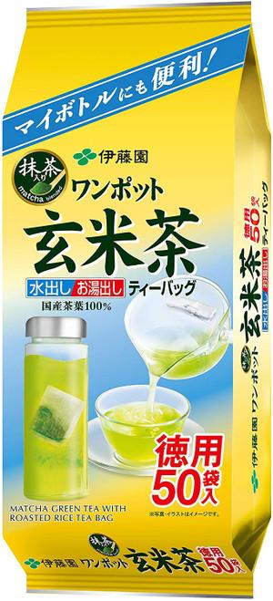 Ito En Itoen One Pot Matcha Green Tea with Roasted Rice 50 Tea Bags