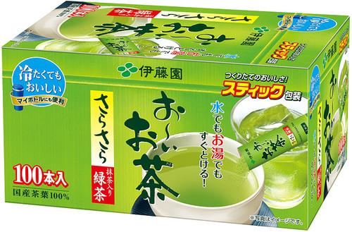 Ito En Itoen Ooi Tea Matcha-Containing Smooth Green Tea 0.8g x 100 Sticks