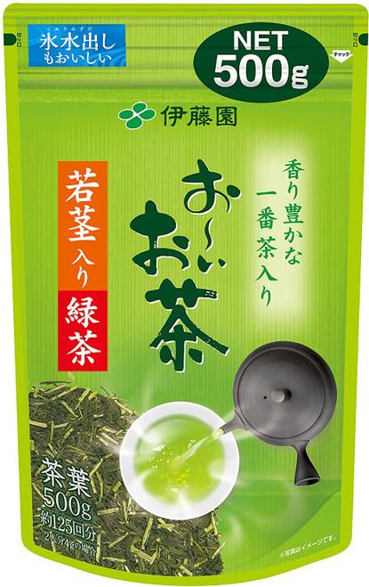 Ito En Itoen Oi Cha Sencha Green Tea with Wakame Wakakuki Young Stems 500g